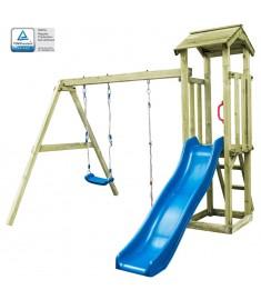 Παιδικό Σπιτάκι Σκάλα/Τσουλήθρα/Κούνια 251x242x218 εκ. Ξύλο FSC   275428