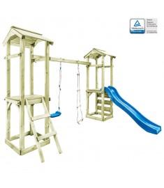 Παιδικό Σπιτάκι Σκάλα/Τσουλήθρα/Κούνια 300x197x218 εκ. Ξύλο FSC   275426