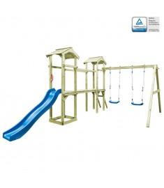 Παιδικό Σπιτάκι Σκάλα/Τσουλήθρα/Κούνιες 252x432x218 εκ Ξύλο FSC   275427