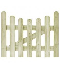Πόρτα Φράχτη 100 x 80 εκ. από Εμποτισμένο Ξύλο Πεύκου FSC   45154