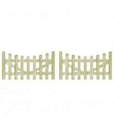 Πόρτες Φράχτη 2 τεμ. 150 x 80 εκ. Εμποτισμένο Ξύλο Πεύκου FSC   45159