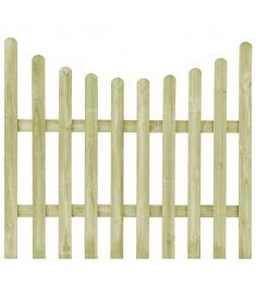 Πόρτα Φράχτη 170 x 150 εκ. από Εμποτισμένο Ξύλο Πεύκου FSC   45167