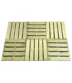 Πλακάκια Deck 6 τεμ. Πράσινο 50 x 50 εκ. από Ξύλο FSC  44946