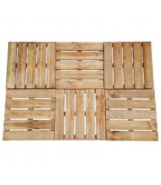 Πλακάκια Deck 6 τεμ. Καφέ 50 x 50 εκ. από Ξύλο FSC  44947