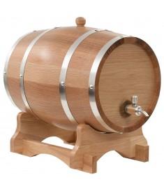 Βαρέλι Κρασιού 12 Λίτρων από Μασίφ Ξύλο Δρυός με Κάνουλα   50678