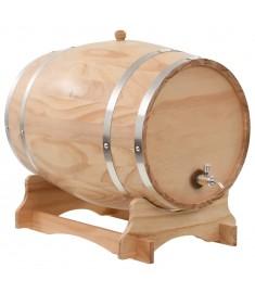 Βαρέλι Κρασιού 35 Λίτρων από Μασίφ Ξύλο Πεύκου με Κάνουλα   50682