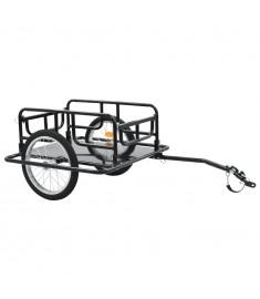 Τρέιλερ Ποδηλάτου για Μεταφορά Φορτίων Μαύρο 130x73x48,5 εκ.  91770