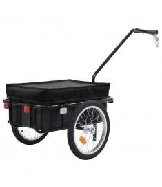 Τρέιλερ Ποδηλάτου για Φορτία Μαύρο 155 x 61 x 83 εκ. Ατσάλινο  91771