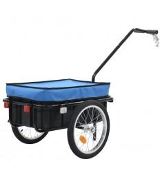 Τρέιλερ Ποδηλάτου για Φορτία Μπλε 155 x 61 x 83 εκ. Ατσάλινο  91772