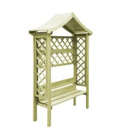Πέργκολα Κήπου με Οροφή και Παγκάκι Εμποτισμένο Ξύλο Πεύκου FSC  44951