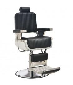 Πολυθρόνα Κουρείου Μαύρη 68 x 69 x 116 εκ. από Συνθετικό Δέρμα  110168