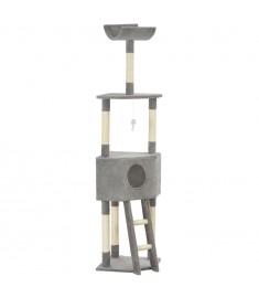 Γατόδεντρο Γκρι 180 εκ. με Στύλο Ξυσίματος από Σχοινί Σιζάλ  170711