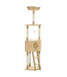 Γατόδεντρο Μπεζ 180 εκ. με Στύλο Ξυσίματος από Σχοινί Σιζάλ  170712