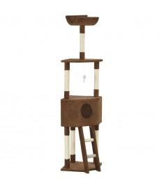Γατόδεντρο Καφέ 180 εκ. με Στύλο Ξυσίματος από Σχοινί Σιζάλ  170713