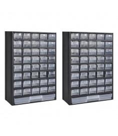 Κουτί Αποθήκευσης με 41 Συρτάρια 2 τεμ. Πλαστικό  275657