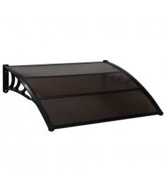 Στέγαστρο Πόρτας Μαύρο 120 x 100 εκ. Πλαστικό  45633