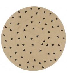 Χαλί Χειροποίητο 90 εκ. από Γιούτα με Σχέδιο Τρίγωνα