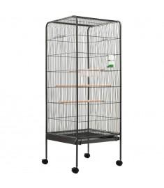 Κλουβί Πουλιών Γκρι 54 x 54 x 146 εκ. Ατσάλινο  144281
