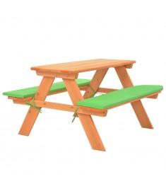 Τραπέζι Πικνικ με Πάγκους Παιδικό 89x79x50 εκ Μασίφ Ξύλο Ελάτης  91793