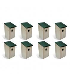 Φωλιές Πουλιών 8 τεμ. 14 x 15 x 22 εκ. Ξύλινες   276006