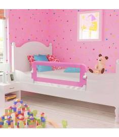 Μπάρα Κρεβατιού Προστατευτική Ροζ 120 x 42 εκ. από Πολυεστέρα  10170