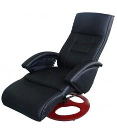Πολυθρόνα Μασάζ Ηλεκτρική Μαύρη από Συνθετικό Δέρμα   60311