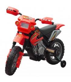 Ηλεκτροκίνητο παιδικό μηχανάκι Κόκκινο    80054