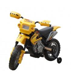 Ηλεκτροκίνητο παιδικό μηχανάκι Κίτρινο   80055