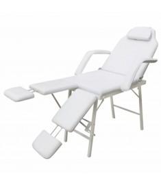 Καρέκλα Θεραπείας Ρυθμιζόμενη Πλάτη & Διπλό Υποπόδιο Λευκή   110042
