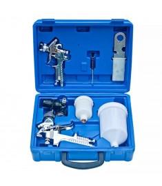 Σετ 2 Πιστόλια Βαφής τύπου HVLP Δοχείο 250/600ml Μπεκ 0.8/1.4mm  140083