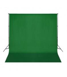 Φωτογραφικό Φόντο Πράσινο 300x300 εκ. Βαμβάκι Υπέρθεση Εικόνας  190002