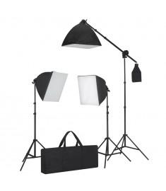 Σετ Φωτισμού: Φωτιστικά Φωτογράφησης 3 τεμ. με Τρίποδο & Softbox   190023