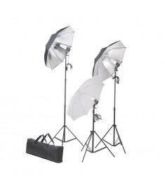 Σετ Φωτισμού Στούντιο 24 watt με Τρίποδα & Ομπρέλες  190041