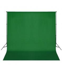 Σύστημα Στήριξης & Φωτογραφικό Φόντο Πράσινο 600 x 300 εκ.  160060