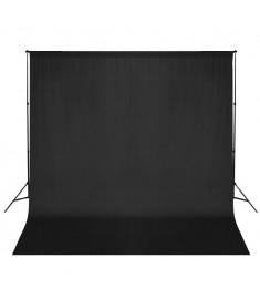 Σύστημα Στήριξης & Φωτογραφικό Φόντο Μαύρο 600 x 300 εκ.  160061