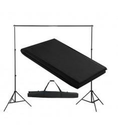 Σύστημα Στήριξης & Φωτογραφικό Φόντο Μαύρο 300 x 300 εκ.  160067