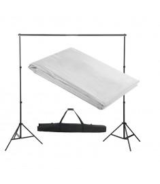 Σύστημα Στήριξης & Φωτογραφικό Φόντο Λευκό 300 x 300 εκ.  160068