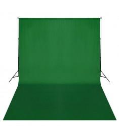 Σύστημα Στήριξης & Φωτογραφικό Φόντο Πράσινο 500 x 300 εκ.  160069