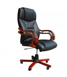 Καρέκλα Γραφείου Πολυτελείας Executive Δερματίνη Μαύρη   20034