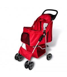 Καρότσι Μεταφοράς Σκύλων Κόκκινο   170055