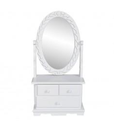 Έπιπλο με Οβάλ Ανακλινόμενο Καθρέφτη Μακιγιάζ από MDF   60627