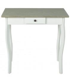 Κονσόλα Τραπέζι Λευκό και Γκρι/Καφέ από MDF    240046
