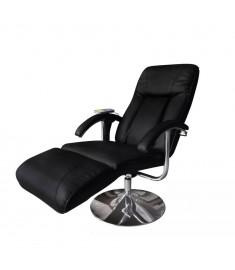 Πολυθρόνα Μασάζ Ηλεκτρική Ρυθμιζόμενη Μαύρη Συνθετικό Δέρμα    240064