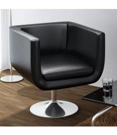 Καρέκλα Μπαρ Μαύρη από Συνθετικό Δέρμα   240041