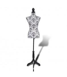 Μανεκέν Θώρακας Γυναικείος Ασπρο-Μαύρο  30021