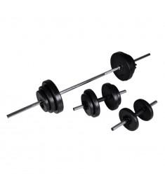 Σετ Μπάρα Άρσης Βαρών και 2 Αλτήρες με Βάρη 30,5kg  90377