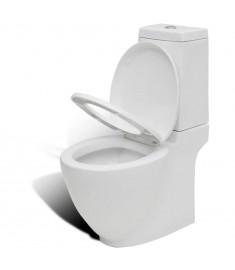 Τουαλέτα WC τετράγωνη πορσελάνινη Λευκή Ιδιαίτερο σχέδιο  240376