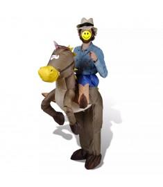 Αποκριάτικη στολή Καουμπόι με άλογο Φουσκωτή   130086