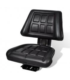 Κάθισμα Τρακτέρ με Πλάτη Μαύρο  210156