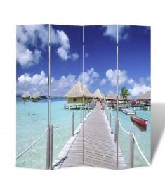 Διαχωριστικό δωματίου με ταπετσαρία παραλία 160 x 180 cm  240476